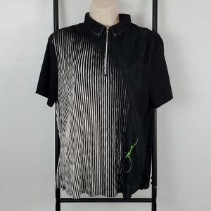 Jamie Sadock top t-shirt women 3/4 zipper size M